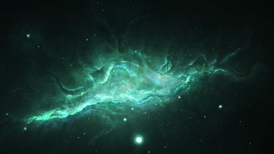 Green Nebula wallpaper