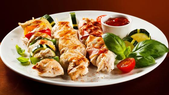 Delicious shashlik wallpaper