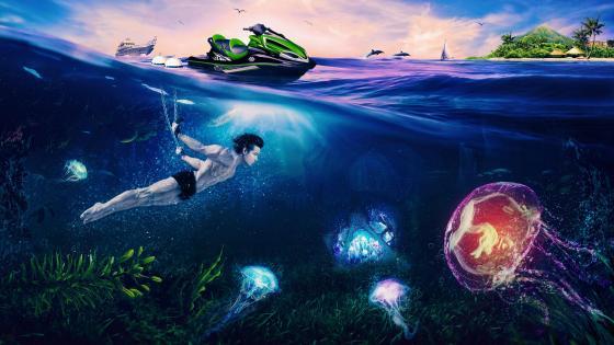 Discovering Underwater wallpaper