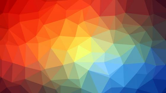 3D colorful polygon wallpaper