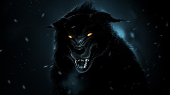 Creepy werewolf wallpaper