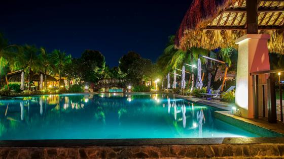 The Beautiful Resort wallpaper