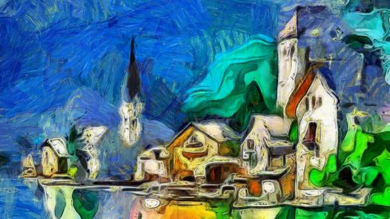 Church - Painting art wallpaper