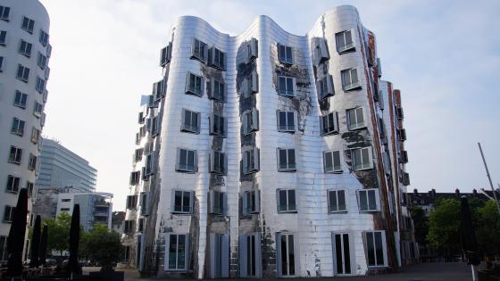 New Zollhof - architectural art in Düsseldorf wallpaper