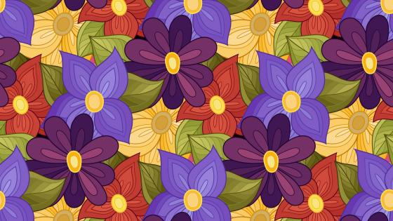 Colorful flower pattern wallpaper