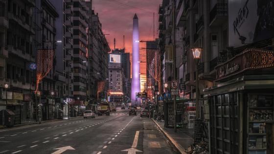 Purple Obelisk (Buenos Aires) wallpaper