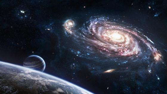Spiral galaxy - Space art wallpaper