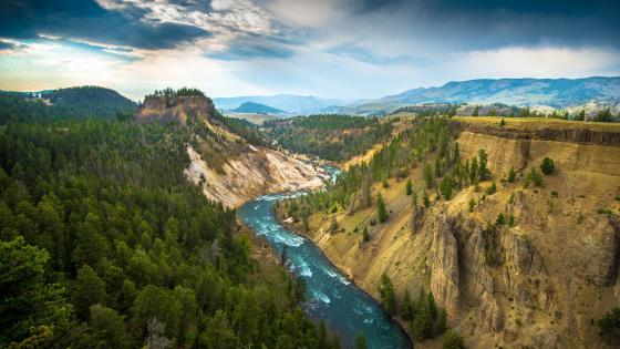 Calcite Springs Overlook, Yellowstone National Park wallpaper
