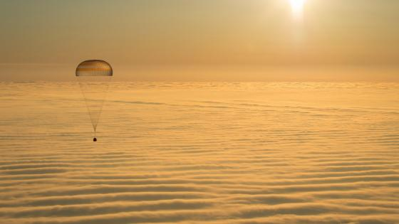 Expedition 42 Soyuz TMA-14M Landing wallpaper