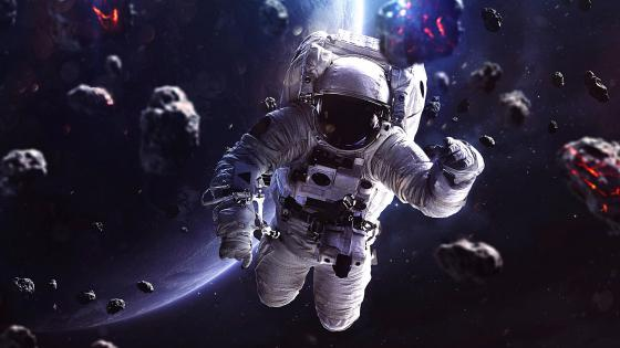 Astronaut in space wallpaper