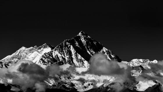 Mount Everest  - Monochrome Photography wallpaper