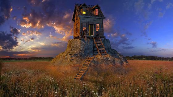 Fantastic house wallpaper