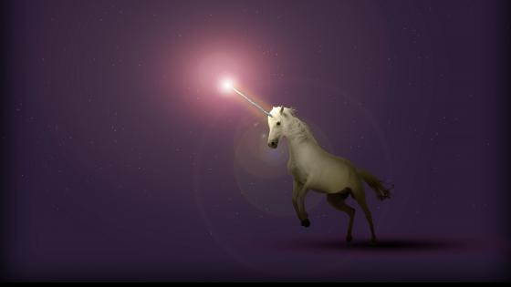 White unicorn wallpaper
