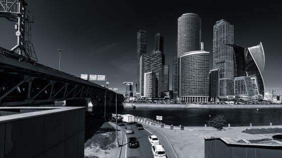 Presnensky District - Monochrome photography wallpaper