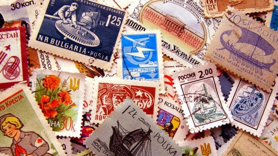 Postage stamps wallpaper