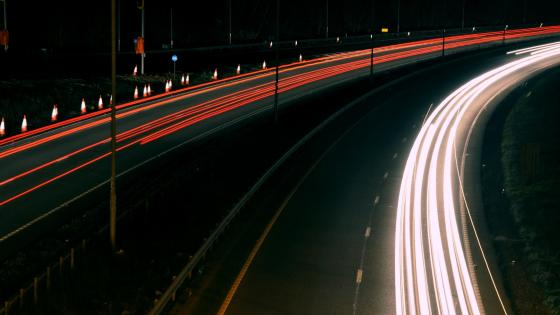 Long Exposure Light Trails wallpaper