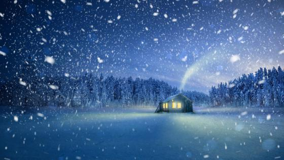 Snow fairy tale christmas mood wallpaper