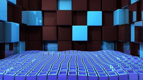 Waving cubes wallpaper