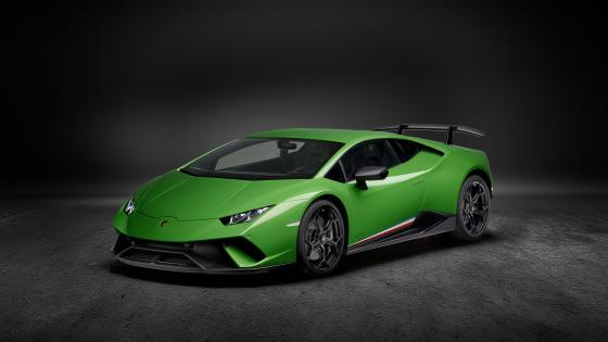 Green Lamborghini Huracan Performante wallpaper