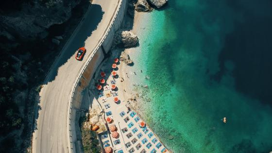 Albanian Riviera beach wallpaper