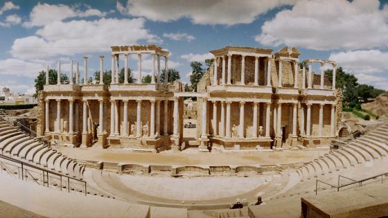 Antique Roman Theatre at Merida, Spain wallpaper