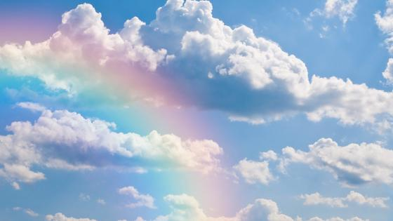 Rainbow in the skies wallpaper