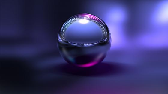 Metal ball reflection wallpaper