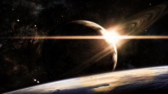 Ringed planet wallpaper
