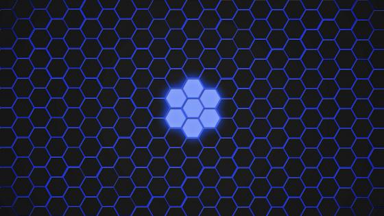 Blue honeycomb wallpaper