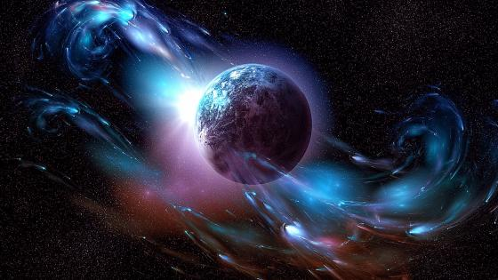 Planet Earth dance in the universe wallpaper
