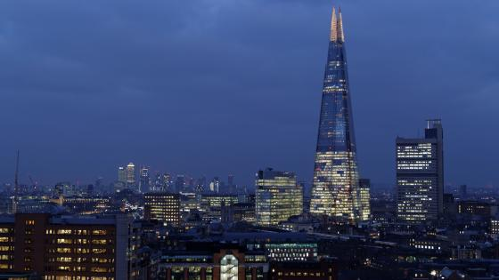 The Shard at dusk wallpaper