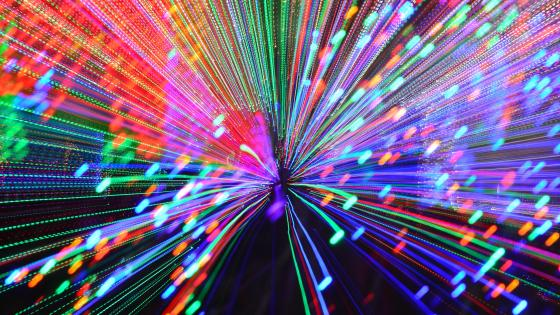 Colorful light show wallpaper