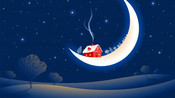 House on the moon wallpaper