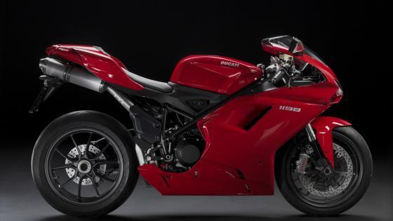 Red Ducati 1198 wallpaper