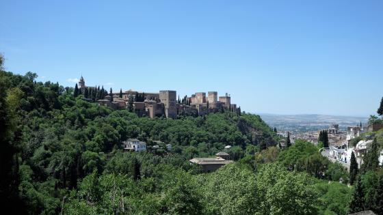 The Alhambra from Sacromonte wallpaper