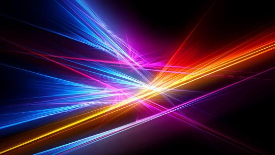 Mmulticolored light rays wallpaper