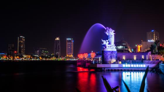 Da Nang and the Han River at Night wallpaper