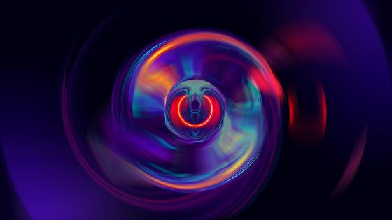 Abstract neon circle wallpaper