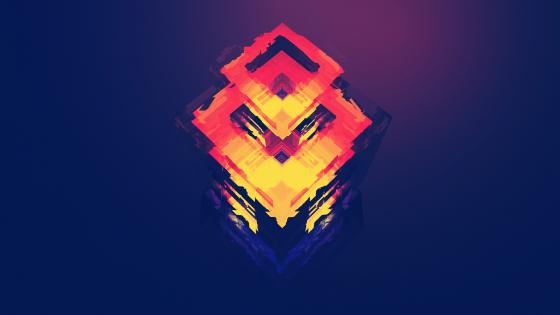 Abstract polygon digital art wallpaper