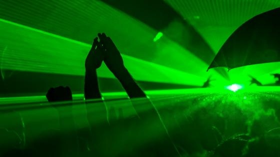 Green Lights at a Concert wallpaper