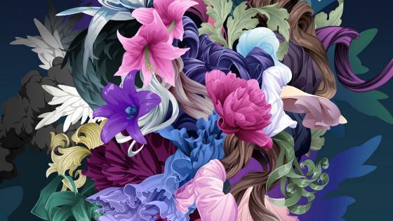 Flower art wallpaper