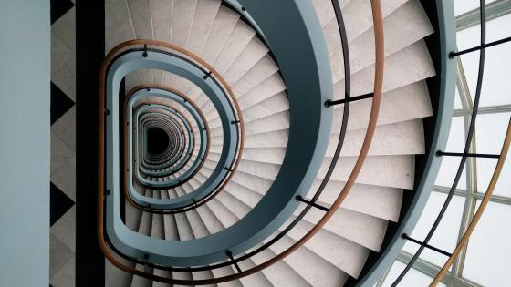 Spiraling Staircase wallpaper
