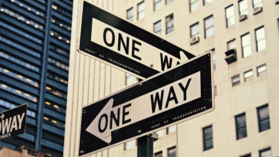 One Way Street Signs wallpaper