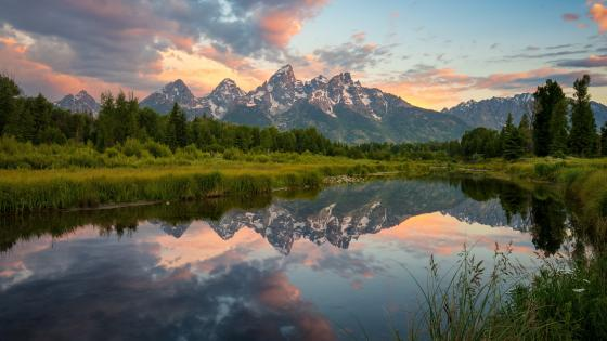 Grand Teton National Park at sunrise wallpaper