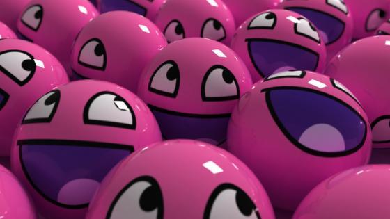 pink emojis wallpaper