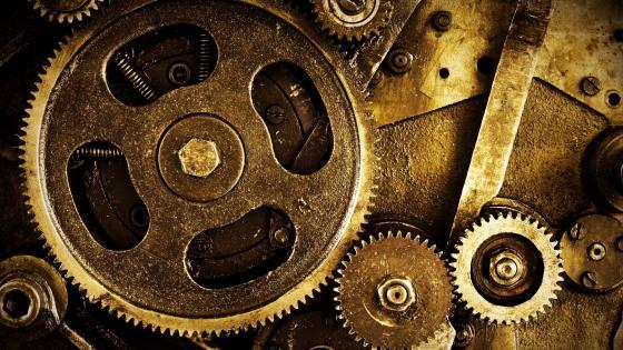 Mechanical wheels wallpaper