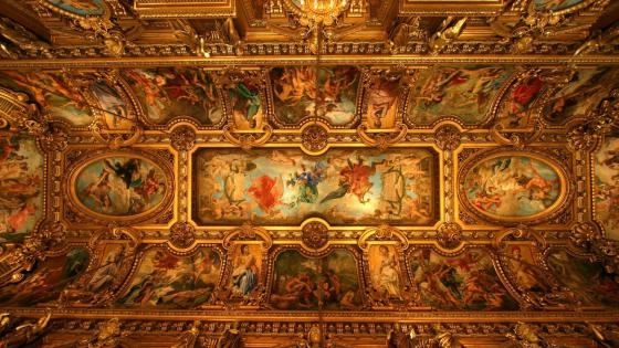 The Ceiling of the Paris Opera House wallpaper