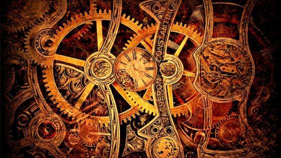 Gears clockwork wallpaper