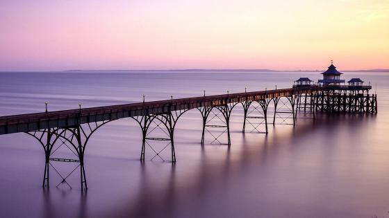 Clevedon Pier, Somerset, England wallpaper