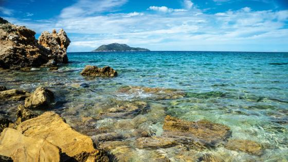 Karaburun Peninsula and Sazan Island wallpaper